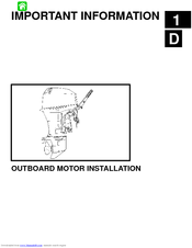maintenance manual on a 6 horsepower outboard motor and motor