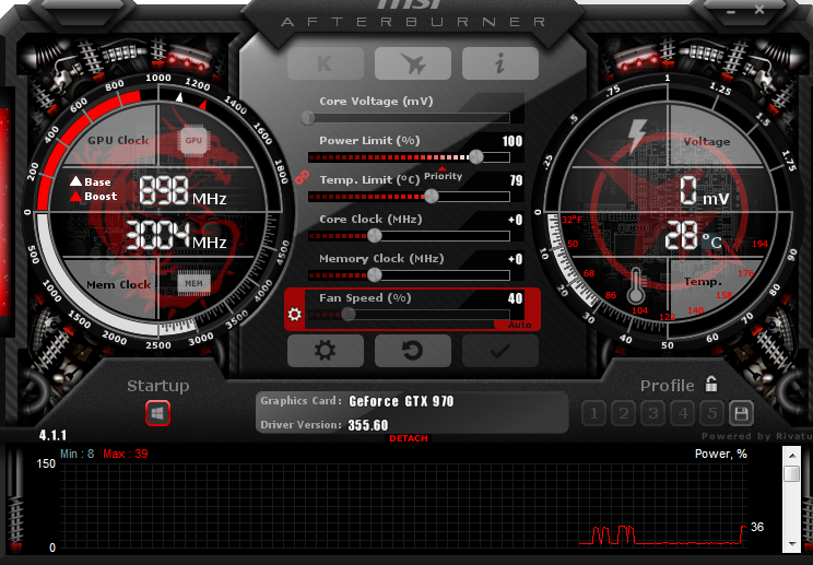 how to manually turn on fan tav on msi afterburner
