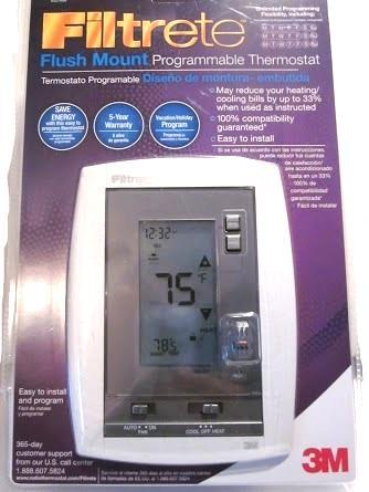 3m flush mount 7 day programmable thermostat touch screen manual