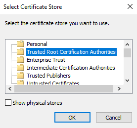 manually update root certificates windows 7