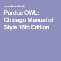 chicago manual of style 15th edition purdue owl