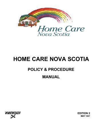 home care nursing policy and procedure manual