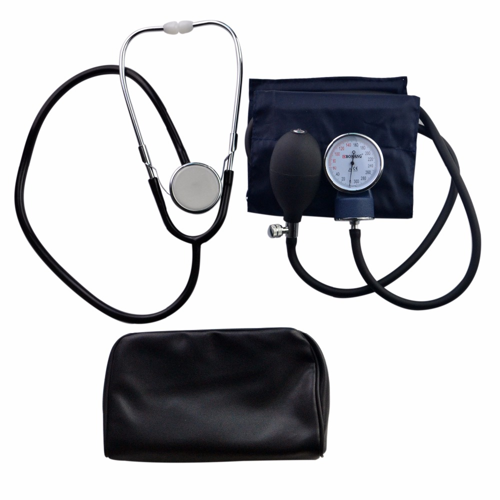 how to measure blood pressure with manual cuff